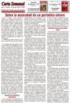 Carta Semanal correspondiente a la semana del 16 al 23 de julio de 2015